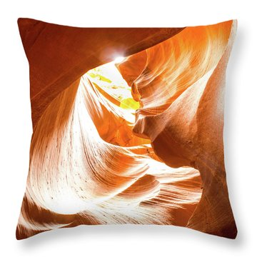 Spiral To The Sun Throw Pillow