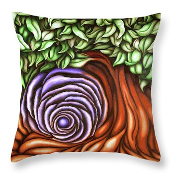 Spiral Tree Throw Pillow