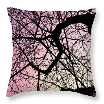 Spiral Tree Throw Pillow