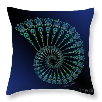 Tribal Turtle Spiral Shell Throw Pillow