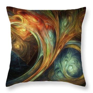Spiralem Ramus Throw Pillow