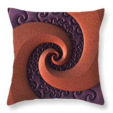 Throw Pillow featuring the digital art Spiralicious by Lyle Hatch