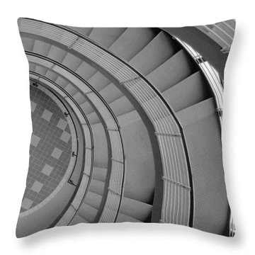 Spiraling Down  Throw Pillow