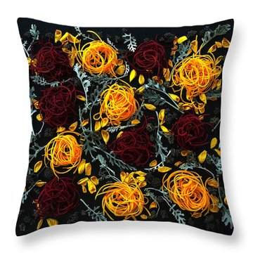 Spiralized Beets And Squash Throw Pillow