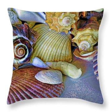 Throw Pillow featuring the photograph Spirals And Ridges 12 by Lynda Lehmann