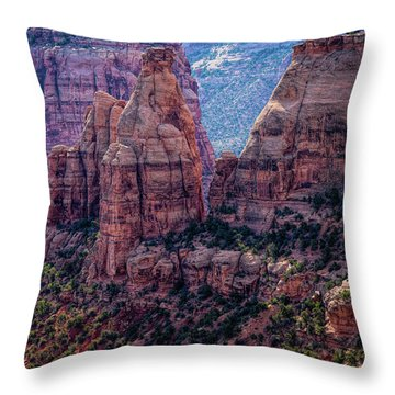 Spires And Mesa Country Throw Pillow