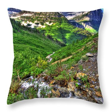 Spires And Stream Throw Pillow