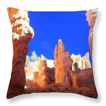 Spires Throw Pillow by Marty Koch