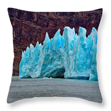 Spires Of Blue Throw Pillow