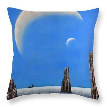 Spires Of Triton Throw Pillow