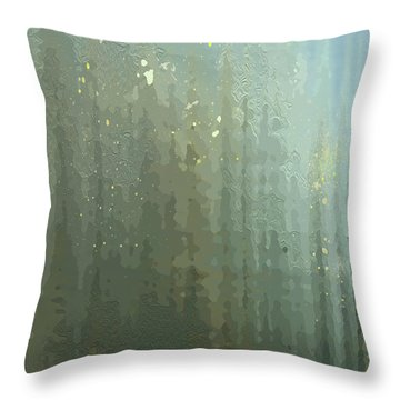Throw Pillow featuring the digital art Spires Through A Window by Gina Harrison