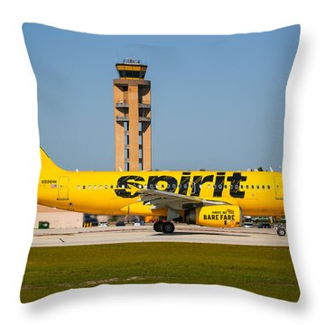 Spirit Airline Throw Pillow