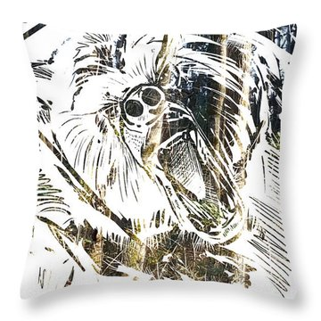 Throw Pillow featuring the painting Spirit Animal . Bear by John Jr Gholson