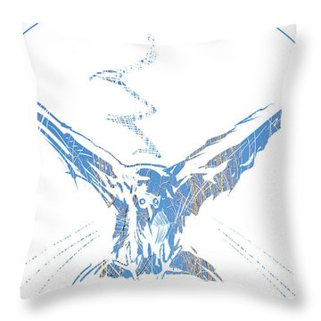 Throw Pillow featuring the painting Spirit Animal . Crow by John Jr Gholson