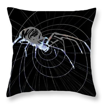 Throw Pillow featuring the painting Spirit Animal . Spider by John Jr Gholson