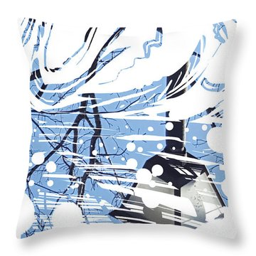Throw Pillow featuring the painting Spirit Animal . Swan by John Jr Gholson