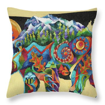 Spirit Bear Totem Throw Pillow