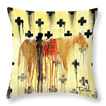 Spirit Blanket Throw Pillow by Patrick Trotter