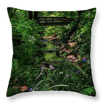 Spirit Bridge 2 Throw Pillow by William Horden
