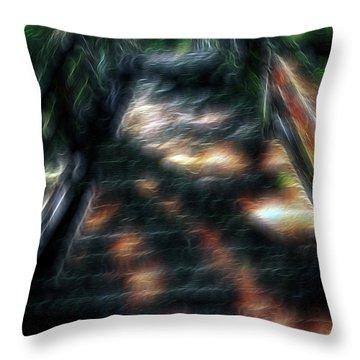 Spirit Bridge Throw Pillow by William Horden