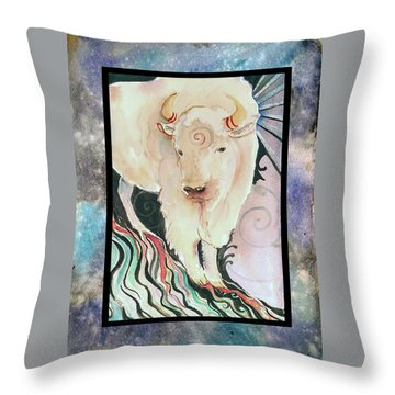 Spirit Buffalo Throw Pillow