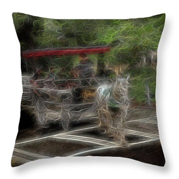 Spirit Carriage 2 Throw Pillow by William Horden