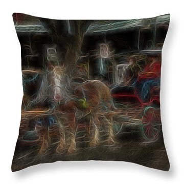 Spirit Carriage 3 Throw Pillow by William Horden