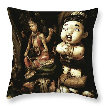 Throw Pillow featuring the photograph Spirit Cemetery. When A Business Or by Mr Photojimsf