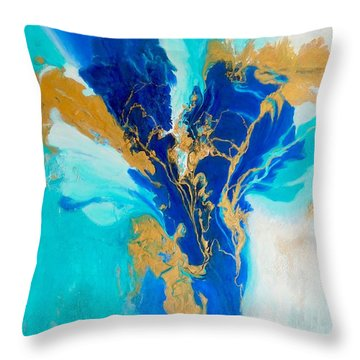 Spirit Dancer Throw Pillow by Irene Hurdle
