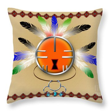 Spirit Face Throw Pillow