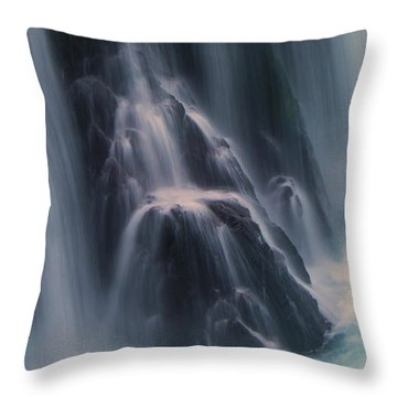 Spirit Falls Detail. Throw Pillow
