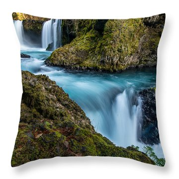 Spirit Falls Columbia River Gorge Throw Pillow