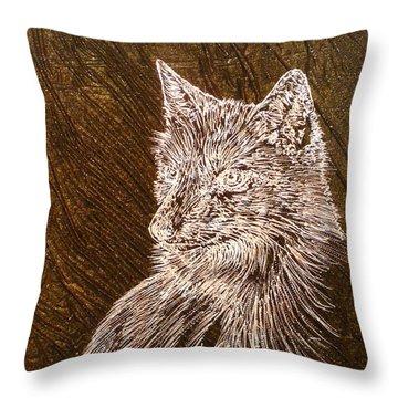 Spirit Fox  Throw Pillow by Rick Silas