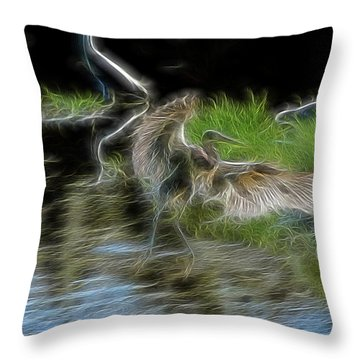 Spirit Garden 4 Throw Pillow by William Horden