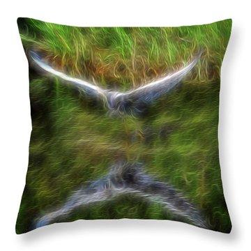 Spirit Garden 7 Throw Pillow by William Horden