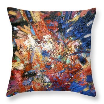 Throw Pillow featuring the painting Spirit by Gary Coleman