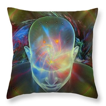 Spirit Guide Throw Pillow by Michael Durst