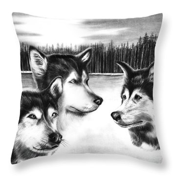 Spirit Guides  Throw Pillow