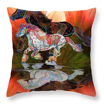 Spirit Horse II Leopard Gypsy Vanner Throw Pillow