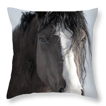 Spirit Horse Throw Pillow by Lula Adams