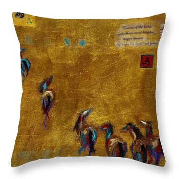 Spirit Horses Throw Pillow by Frances Marino