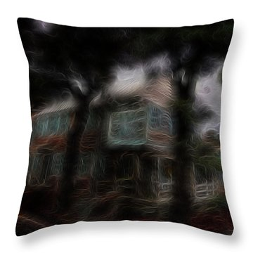 Spirit House Throw Pillow by William Horden