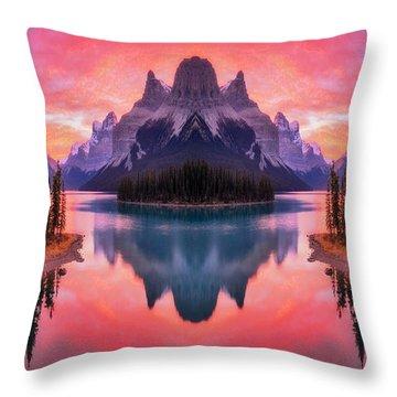 Spirit Island Reflections Throw Pillow