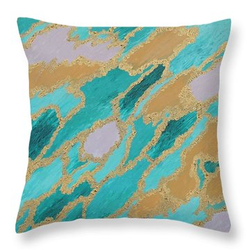Spirit Journey Throw Pillow by Rachel Hannah