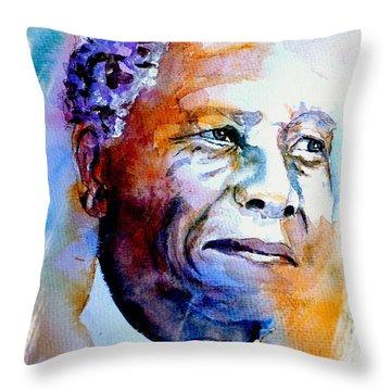 Nelson Mandela Throw Pillows