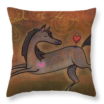 Throw Pillow featuring the digital art Spirit Of Horse by Marti McGinnis