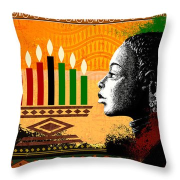 Spirit Of Kwanzaa Throw Pillow