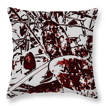 Spirit Of Leaves Throw Pillow by Gina O'Brien