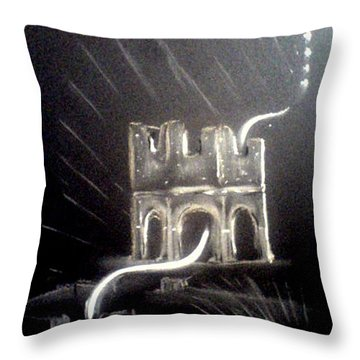 Spirit Of Mellifont Abbey Throw Pillow