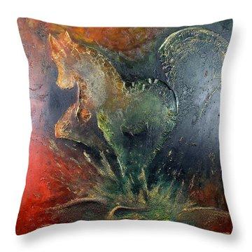 Spirit Of Mustang Throw Pillow